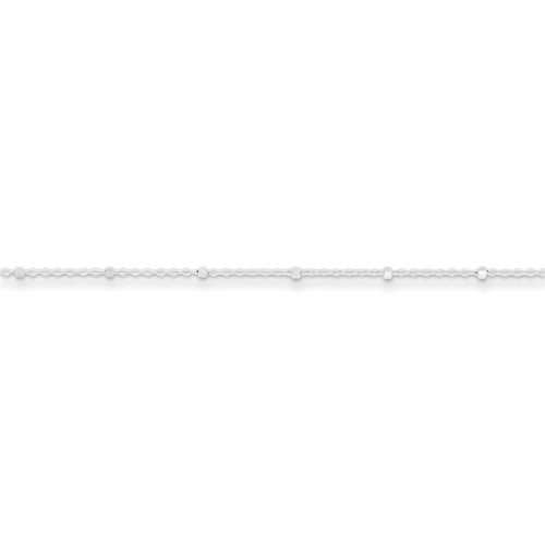 10 Inch 1.25mm Rolo with Beads Anklet Sterling Silver QFC163-10