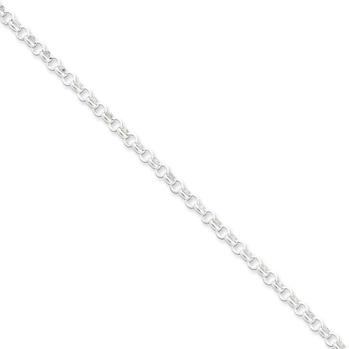 16 Inch 4.0mm Rolo Chain Sterling Silver QFC75-16
