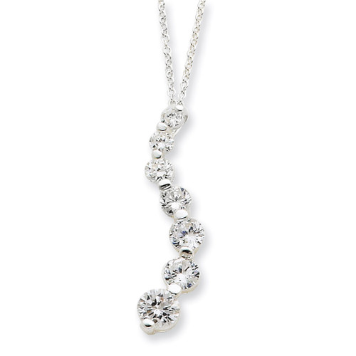 18 Inch Journey Necklace Sterling Silver Diamond QG2643-18
