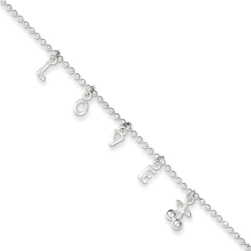 10 Inch Extension Anklet Sterling Silver QG3169-10