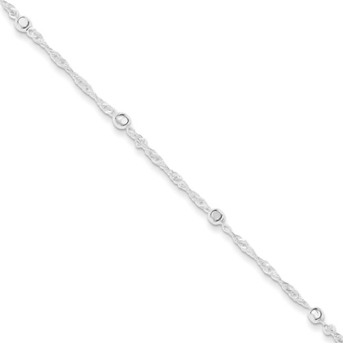 10 Inch Extension Anklet Sterling Silver QG3177-10