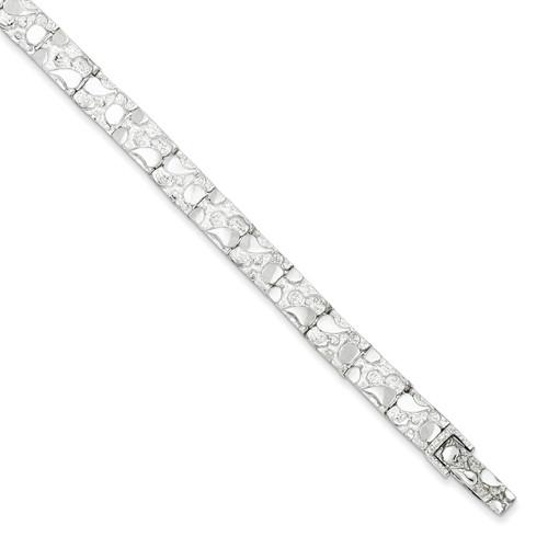 7 Inch Nugget Bracelet Sterling Silver QG3322-7
