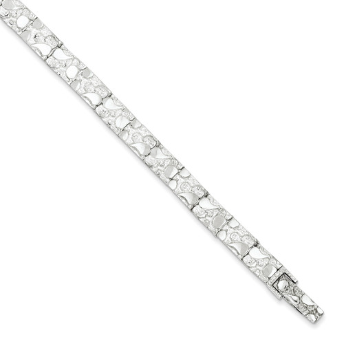 8 Inch Nugget Bracelet Sterling Silver QG3322-8