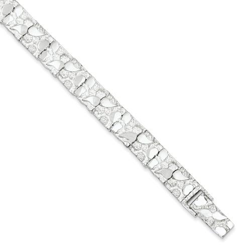 8 Inch Nugget Bracelet Sterling Silver QG3323-8