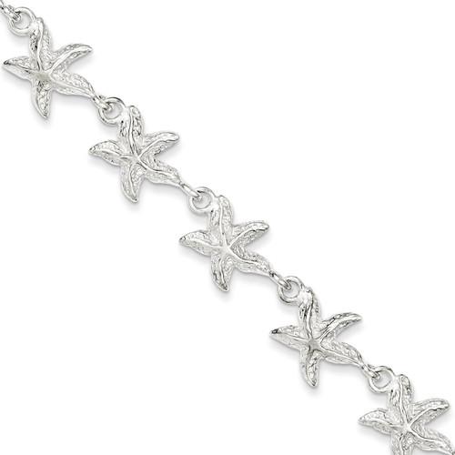 7 Inch Starfish Bracelet Sterling Silver QG840-7