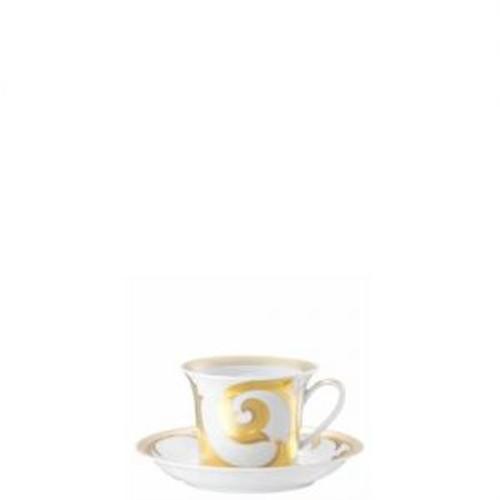 Versace Arabesque Gold Cappucino Saucer 6 inch