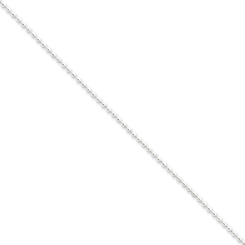 20 Inch 2mm Beaded Necklace Sterling Silver QK27-20