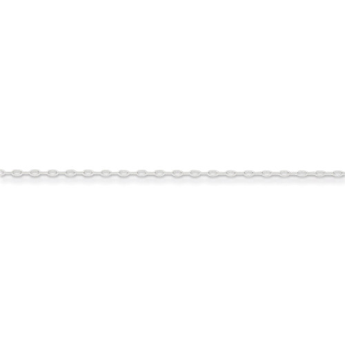 16 Inch 1mm Cable Chain Sterling Silver QPE68-16