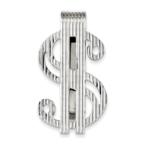 Dollar Sign Money Clip Sterling Silver QQ274