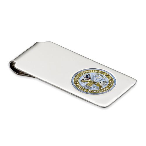 Army Logo Money Clip Sterling Silver QQ284