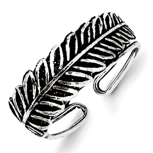 Fancy Toe Ring Antiqued Sterling Silver QR1916