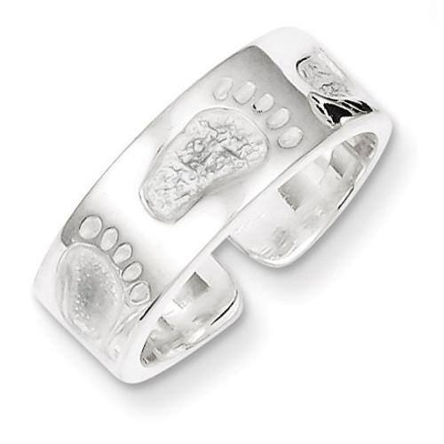 Feet Toe Ring Sterling Silver QR814