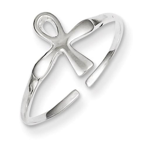 Ankh (Egyptian Cross) Toe Ring Sterling Silver QR839