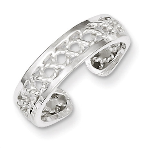 Toe Ring Sterling Silver Solid QR850