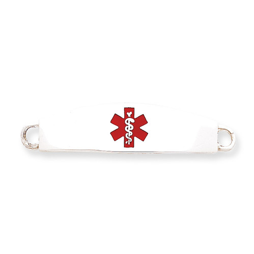 Medical ID Plate Sterling Silver XSM11