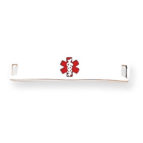 Medical ID Plate Sterling Silver XSM50