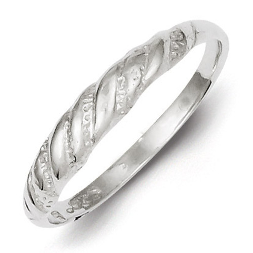 Twisted Ring Diamond-cut Sterling Silver QR113