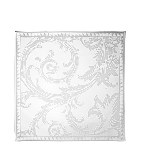 Versace Arabesque Dish Crystal 11 1/2 inch Square Clear
