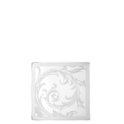 Versace Arabesque Dish Crystal 8 1/4 inch Square Clear