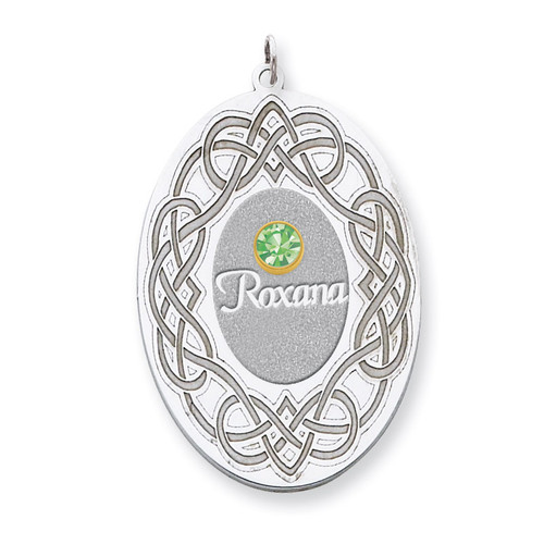 1 Birthstone Bezel Family Crystal Pendant Sterling Silver & 14k Gold QMP14/1G