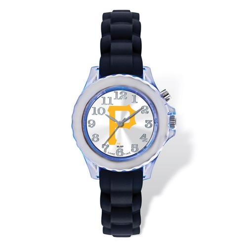 Pittsburgh Pirates Flash Black Watch Strap Youth XWM2310