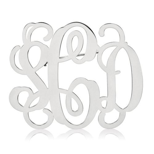 Monogram Pin 0.18 Gauge Sterling Silver XNA504SS