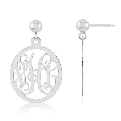 Monogram Earring Sterling Silver XNE17SS