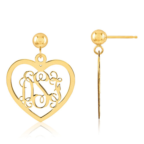 Monogram Earring Gold-plated Sterling Silver XNE18GP