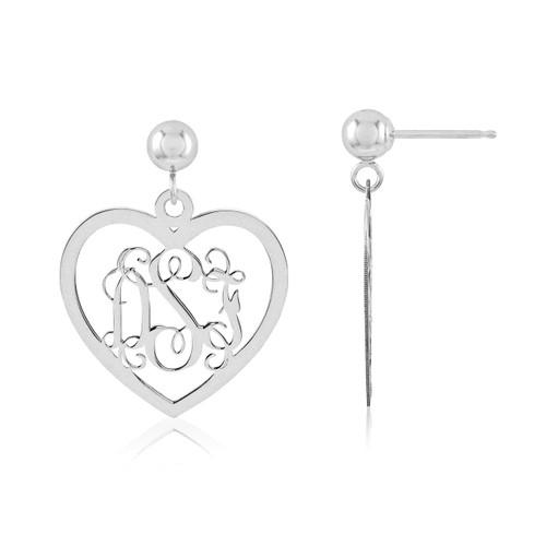 Monogram Earring Sterling Silver XNE18SS