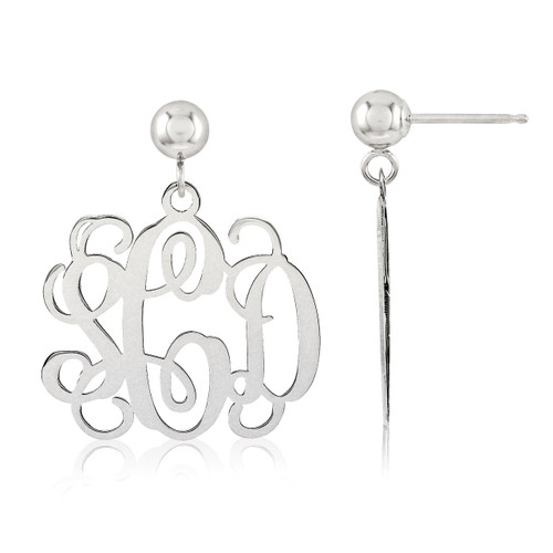 Monogram Earring Sterling Silver XNE19SS