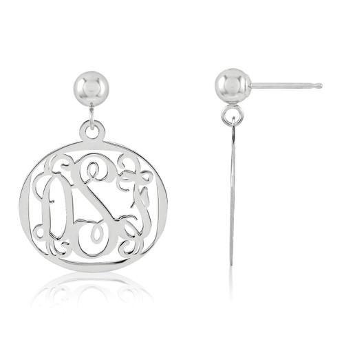 Monogram Earring 14k White Gold XNE20W