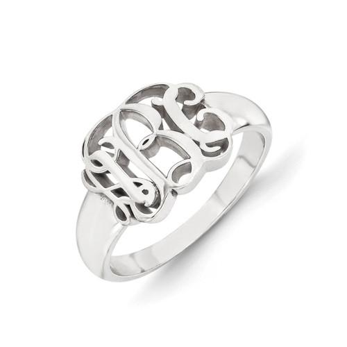 Monogram Signet Ring Sterling Silver XNR51SS