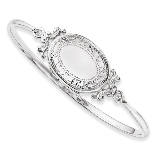 Locket Bangle Sterling Silver QB745