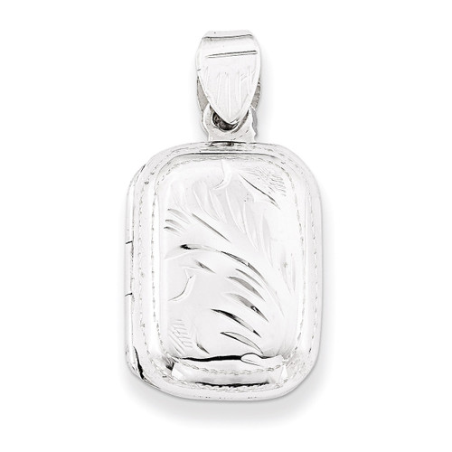 17mm Locket Sterling Silver QLS54