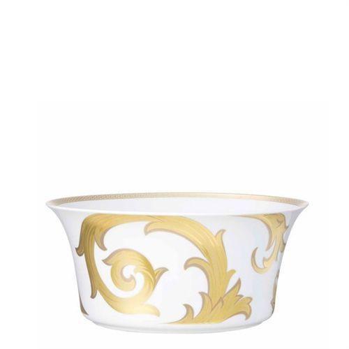 Versace Arabesque Gold Open Vegetable 115 ounce 9 3/4 inch