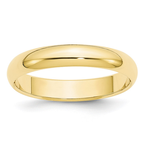 4mm Half Round Band 10k Yellow Gold Engravable 1HR040-12.5