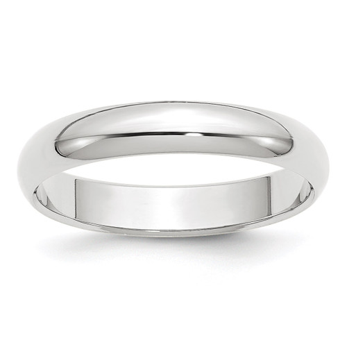 4mm Half Round Band 10k White Gold Engravable 1WHR040-10
