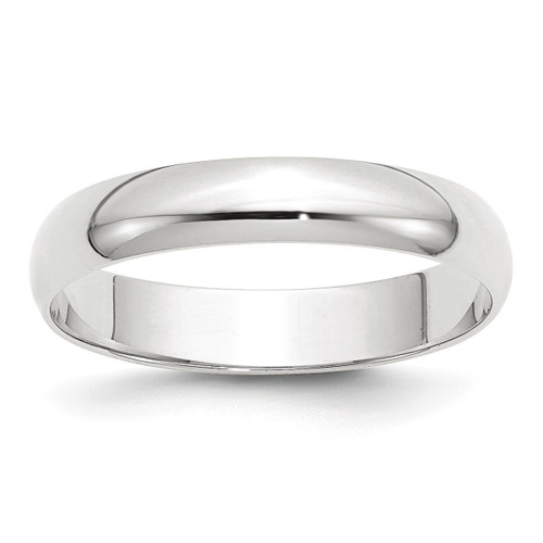 4mm Lightweight Half Round Band 10k White Gold Engravable 1WHRL040-10