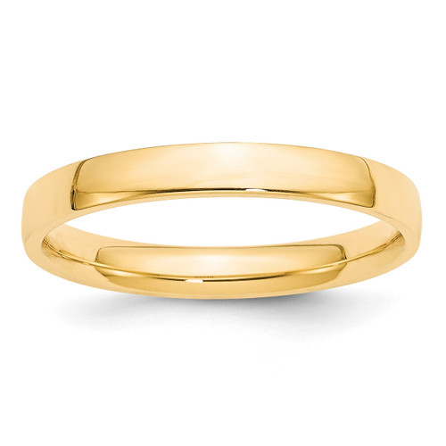 3mm Lightweight Comfort Fit Band 14k Yellow Gold Engravable CFL030-12