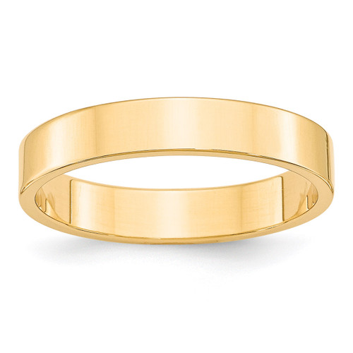4mm Lightweight Flat Band 14k Yellow Gold Engravable FLL040-10