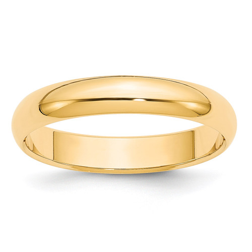 4mm Half Round Band 14k Yellow Gold Engravable HR040-12.5