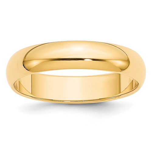 5mm Half Round Band 14k Yellow Gold Engravable HR050-12.5
