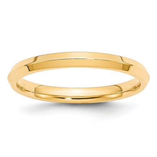 2.5mm Knife Edge Comfort Fit Band 14k Yellow Gold Engravable KEC025-10