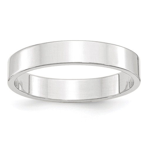4mm Lightweight Flat Band 14k White Gold Engravable WFLL040-10