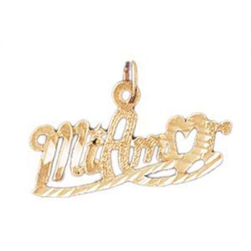Mi Amor Pendant Necklace Charm Bracelet in Gold or Silver 10239