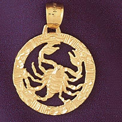 Scorpio scorpion zodiac charm bracelet or pendant necklace in 14k scorpio scorpion zodiac pendant necklace charm bracelet in gold or silver 9399 mozeypictures Gallery