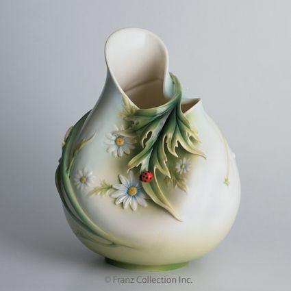 Franz Porcelain Ladybug Large Vase Fz00960 Upc 837009005909 Homebello