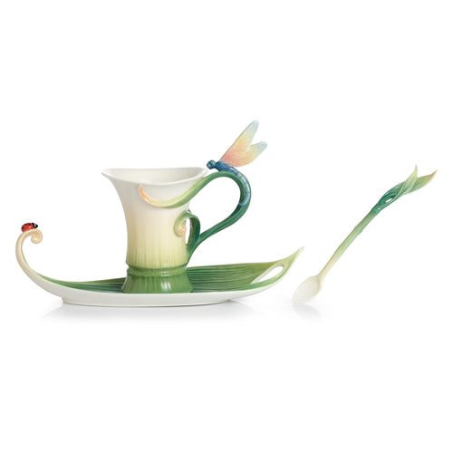 Franz Porcelain Peace Amp Harmony Bamboo Cup Saucer Spoon