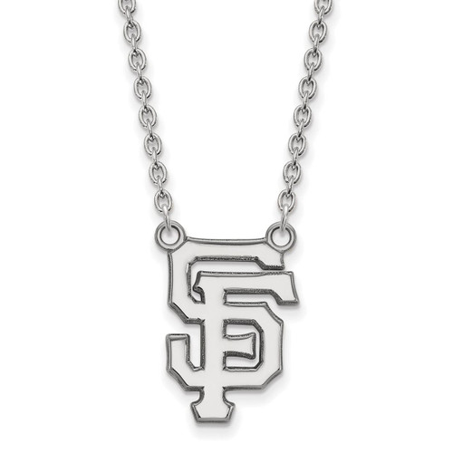 San Francisco Giants Large Pendant With Necklace Sterling