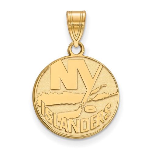 New York Islanders Medium Pendant 14k Yellow Gold 4y003isl